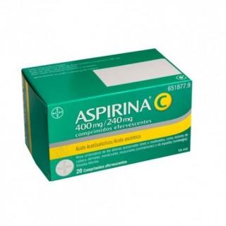 ASPIRINA C 400 mg/240 mg 20 COMPRIMIDOS EFERVESCENTES