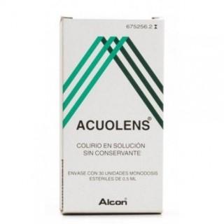ACUOLENS 3 mg/ml + 5,5 mg/ml COLIRIO EN SOLUCION 30 MONODOSIS 0,5 ml