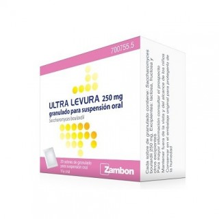 ULTRA-LEVURA 250 mg 20 SOBRES GRANULADO PARA SUSPENSION ORAL