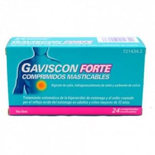 GAVISCON FORTE 24 COMPRIMIDOS MASTICABLES