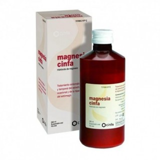 MAGNESIA CINFA 200 mg/ml SUSPENSION ORAL 1 FRASCO 260 ml