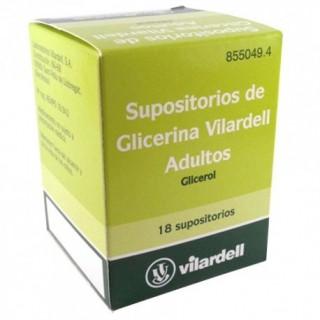 SUPOSITORIOS DE GLICERINA VILARDELL ADULTOS 3 g 18 SUPOSITORIOS