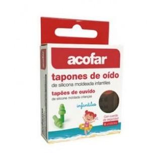 ACOFAR TAPONES OIDOS SILICONA MOLDEADA INFANTILES 6 UNIDADES