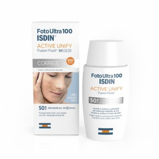 FOTOULTRA 100 ISDIN ACTIVE UNIFY FUSION FLUID 50 + 50 ML