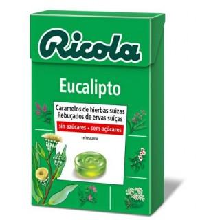 RICOLA CARAMELO EUCALIPTO SIN AZUCAR 50 G