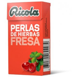RICOLA PERLAS FRESA SIN AZUCAR 25 G