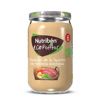 NUTRIBEN ECOPOTITOS VERDURAS DE LA HUERTA CON TERNERA ECOLOGICA 235 G