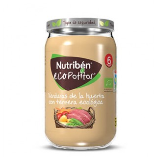NUTRIBEN ECOPOTITO VERDURAS DE LA HUERTA CON TERNERA ECOLOGICA 235 G