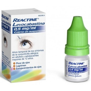 REACTINE LEVOCABASTINA 0,5 mg/ml COLIRIO EN SUSPENSION 1 FRASCO 4 ml