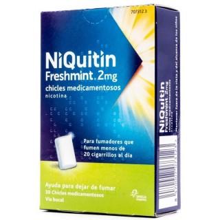 NIQUITIN FRESHMINT 2 mg 30 CHICLES MEDICAMENTOSOS