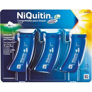 NIQUITIN 1,5 mg 60 COMPRIMIDOS PARA CHUPAR (SABOR MENTA)
