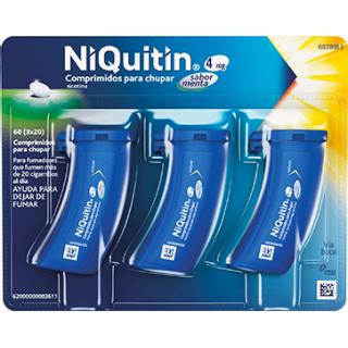 NIQUITIN 4 mg 60 COMPRIMIDOS PARA CHUPAR (SABOR MENTA)