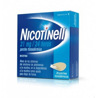 NICOTINELL 21 mg/24 h 28 PARCHES TRANSDERMICOS 52,5 mg