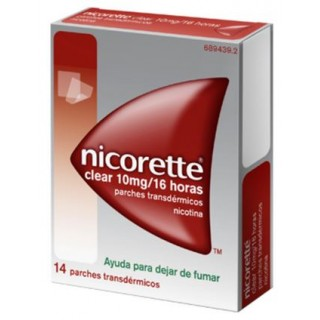 NICORETTE CLEAR 10 mg/16 h 14 PARCHES TRANSDERMICOS 15,75 mg