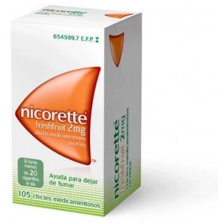 NICORETTE FRESHFRUIT 2 mg 105 CHICLES MEDICAMENTOSOS