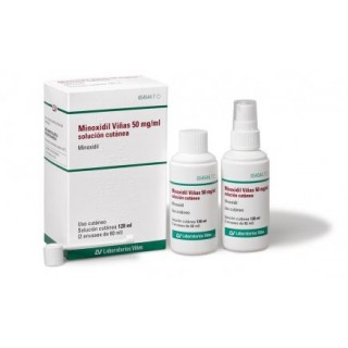 MINOXIDIL VIÑAS 50 MG/ML SOLUCION CUTANEA 2 FRASCOS 60 ML