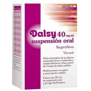 DALSY 40 mg/ml SUSPENSION ORAL 1 FRASCO 30 ml