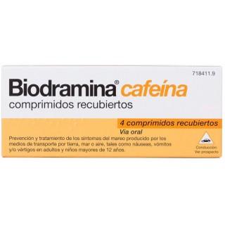 BIODRAMINA CAFEINA 4 COMPRIMIDOS RECUBIERTOS