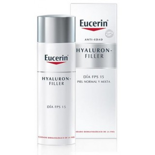 EUCERIN ANTIEDAD HYALURON-FILLER DIA NORMAL MIXTA FPS 15  50 ML