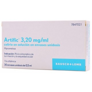 ARTIFIC 3,2 mg/ml COLIRIO EN SOLUCION 30 MONODOSIS 0,5 ml
