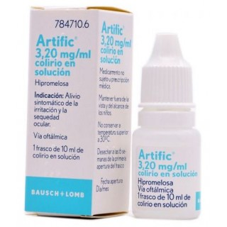 ARTIFIC 3,2 mg/ml COLIRIO EN SOLUCION 1 FRASCO 10 ml