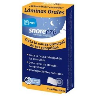 SNOREEZE LAMINAS ORALES 14 UNIDADES