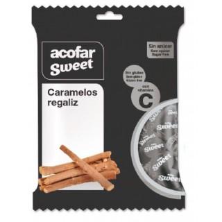 ACOFARSWEET CARAMELOS SIN AZUCAR REGALIZ BOLSA 60 G