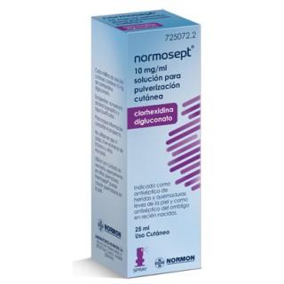 NORMOSEPT 10 mg/ml SOLUCION PARA PULVERIZACION CUTANEA 1 FRASCO 25 ml