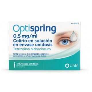 OPTISPRING 0,5 mg/ml COLIRIO EN SOLUCION 10 MONODOSIS 0,5 ml