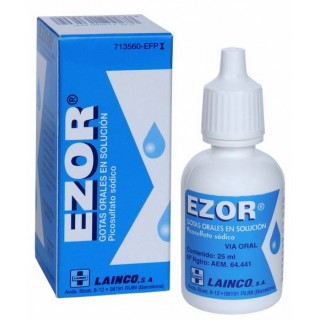 EZOR 7,5 mg/ml GOTAS ORALES EN SOLUCION 1 FRASCO 25 ml