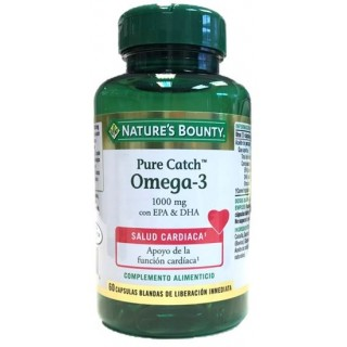 NATURES BOUNTY PURE CATCH OMEGA-3 1000MG 60 CAPSULAS BLANDAS