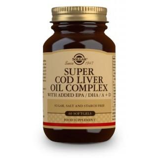 SOLGAR SUPER COD LIVER OIL COMPLEX 60 CAPSULAS BLANDAS