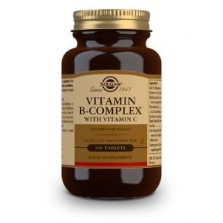 SOLGAR B-COMPLEX CON VITAMINA C 100 COMPRIMIDOS