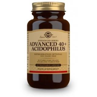SOLGAR 40 PLUS ACIDOPHILUS AVANZADO 60 CAPSULAS VEGETALES