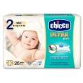 CHICCO PAÑALES ULTRA SOFT (2) MINI 3- 6 KG 25 U