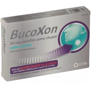 BUCOXON 20 MG 18 PASTILLAS PARA CHUPAR SABOR MENTA