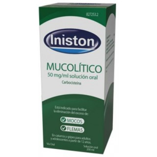 INISTON MUCOLITICO 50 MG/ML SOLUCION ORAL 1 FRASCO 200 ML