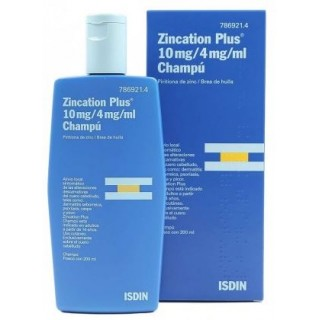 ZINCATION PLUS 10 mg/ml + 4 mg/ml CHAMPU MEDICINAL 1 FRASCO 200 ml