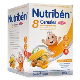 NUTRIBEN 8 CEREALES CON UN TOQUE DE MIEL FRUTOS SECOS 600 G