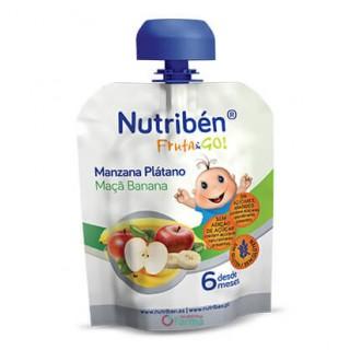 NUTRIBEN FRUTA & GO MANZANA Y PLATANO 90 G