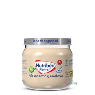 NUTRIBEN POTITO INICIO A LA CARNE POLLO CON ARROZ Y ZANAHORIAS 120 G