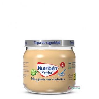 NUTRIBEN POTITO INICIO A LA CARNE POLLO Y JAMON CON VERDURITAS 120 G