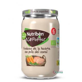 NUTRIBEN ECOPOTITO VERDURAS DE LA HUERTA CON POLLO DEL CORRAL 235 G