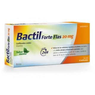 BACTIL FORTE FLAS 20 MG 10 LIOFILIZADOS ORALES