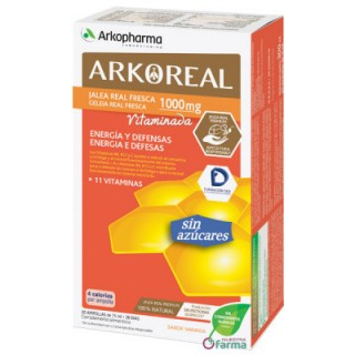 ARKOREAL JALEA REAL VITAMINADA SIN AZUCAR 20 AMPOLLAS 15 ML