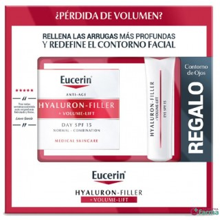 EUCERIN HYALURON FILLER VOLUME LIFT FPS 15 DIA PIEL NORMAL Y MIXTA 50 ML