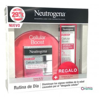 NEUTROGENA CELLULAR BOOST PACK CREMA DIA SPF20 50 ML + CONTORNO DE OJOS 15 ML