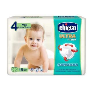 CHICCO PAÑALES ULTRA FIT&FUN (4) 8-18KG 19 U