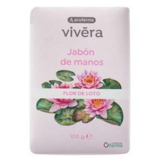 ACOFARMA VIVERA JABON DE MANOS AROMA FLOR DE LOTO PASTILLA 100 G