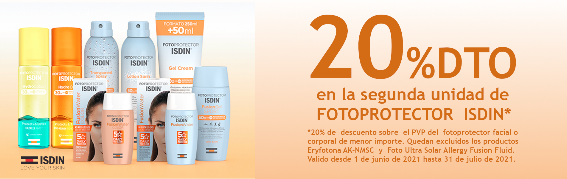 Isdin Fotoprotectores -20%